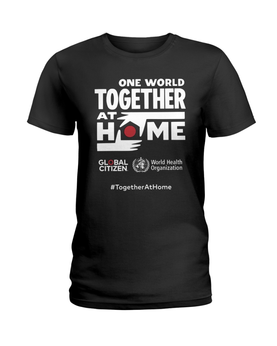 Official One World Toghther At Home T Shirt Ladies T-Shirt