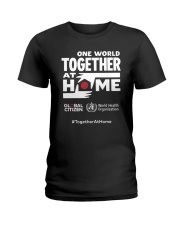 Official One World Toghther At Home T Shirt Ladies T-Shirt front