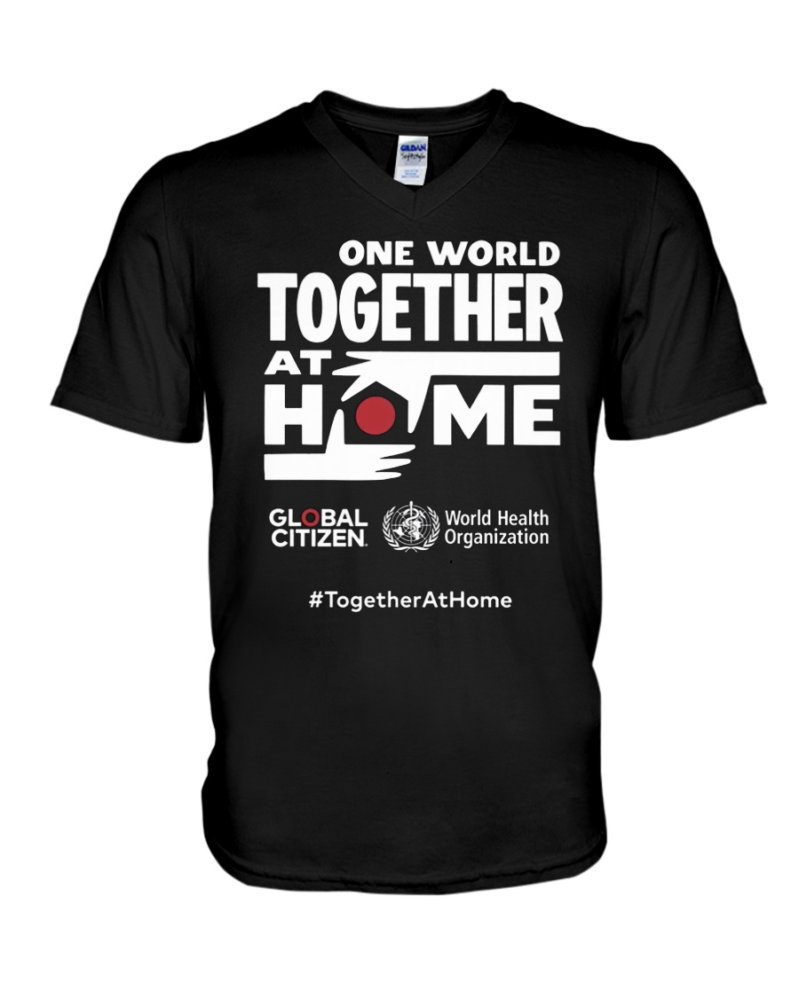 Official One World Toghther At Home T Shirt V-Neck T-Shirt