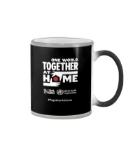 Official One World Toghther At Home T Shirt Color Changing Mug tile