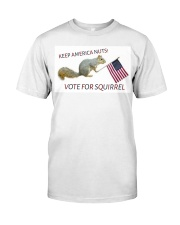 Vote for Squirrel 2020 Classic T-Shirt front