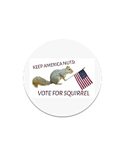 Vote for Squirrel 2020 Circle Magnet thumbnail