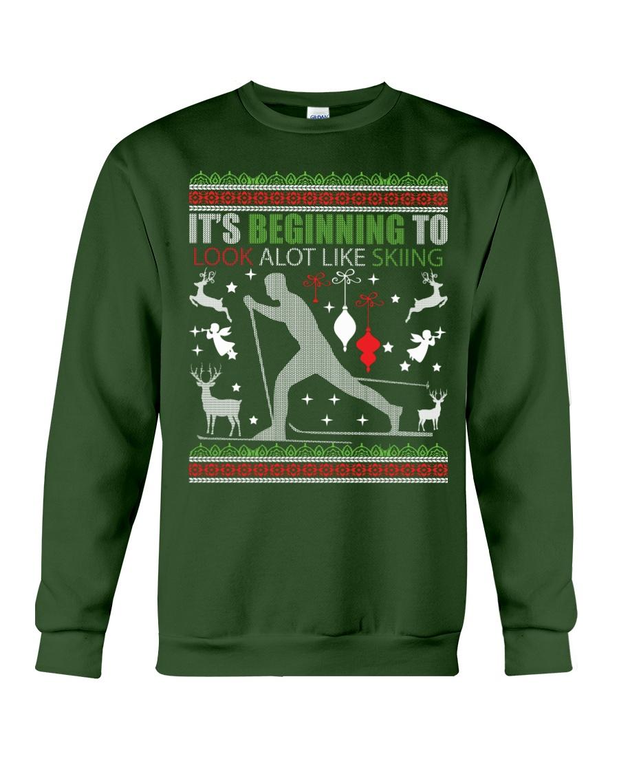 Cross Country Skiing Ugly Christmas Sweater xmas Crewneck Sweatshirt