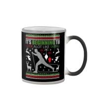 Cross Country Skiing Ugly Christmas Sweater xmas Color Changing Mug thumbnail