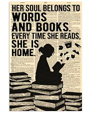 Reading - Her Soul belongs to Words and Books 16x24 Poster front