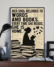 Reading - Her Soul belongs to Words and Books 16x24 Poster lifestyle-poster-2