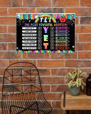 Classroom Poster - YET The Most Powerful Addition 24x16 Poster poster-landscape-24x16-lifestyle-24