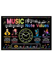 Music Poster - Music Note Values 24x16 Poster front