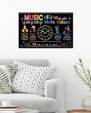 Music Poster - Music Note Values 24x16 Poster poster-landscape-24x16-lifestyle-01