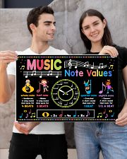 Music Poster - Music Note Values 24x16 Poster poster-landscape-24x16-lifestyle-21