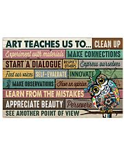 Art poster - Art teaches us to persevere 24x16 Poster front