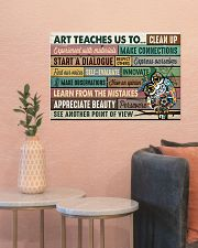 Art poster - Art teaches us to persevere 24x16 Poster poster-landscape-24x16-lifestyle-22