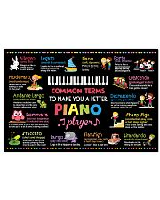 Music - Piano - Common terms 24x16 Poster front