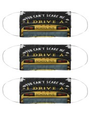 You can't scare me Bus Driver Cloth Face Mask - 3 Pack front