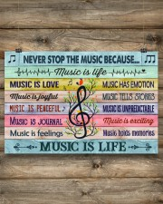 Music poster - Music is life 24x16 Poster aos-poster-landscape-24x16-lifestyle-15