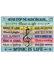 Music poster - Music is life 24x16 Poster front