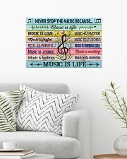 Music poster - Music is life 24x16 Poster poster-landscape-24x16-lifestyle-01