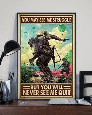 Veteran - You will never see me quit 16x24 Poster lifestyle-poster-2