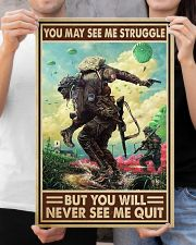 Veteran - You will never see me quit 16x24 Poster poster-portrait-16x24-lifestyle-19
