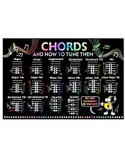 Music - Chords and how to tune them 24x16 Poster front