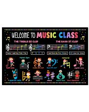 Music Poster - Welcome To Music Class 24x16 Poster front