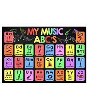 Music - My Music ABC'S - Music instruments 24x16 Poster front