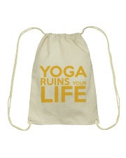 Yoga Ruins Your LIFE Drawstring Bag thumbnail