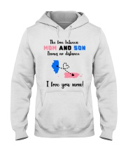 PUERTO RICO ILLINOIS LOVE BETWEEN MOTHER SON Hooded Sweatshirt thumbnail