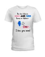 PUERTO RICO ILLINOIS LOVE BETWEEN MOTHER SON Ladies T-Shirt thumbnail