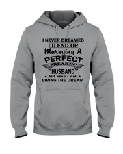 MARRYING A PERFECT FREAKING HUSBAND Hooded Sweatshirt thumbnail