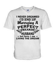 MARRYING A PERFECT FREAKING HUSBAND V-Neck T-Shirt thumbnail