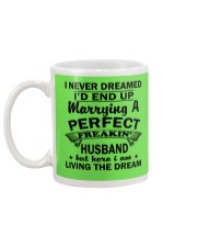 MARRYING A PERFECT FREAKING HUSBAND Mug back