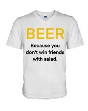 BEER WIN FRIENDS V-Neck T-Shirt thumbnail