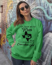 LIFE TOOK ME TO TX BUT ALWAYS BE A CANADIAN GIRL Crewneck Sweatshirt lifestyle-unisex-sweatshirt-front-3