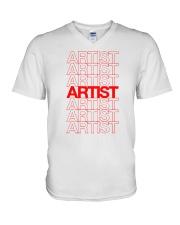 Artist - Thank You V-Neck T-Shirt thumbnail