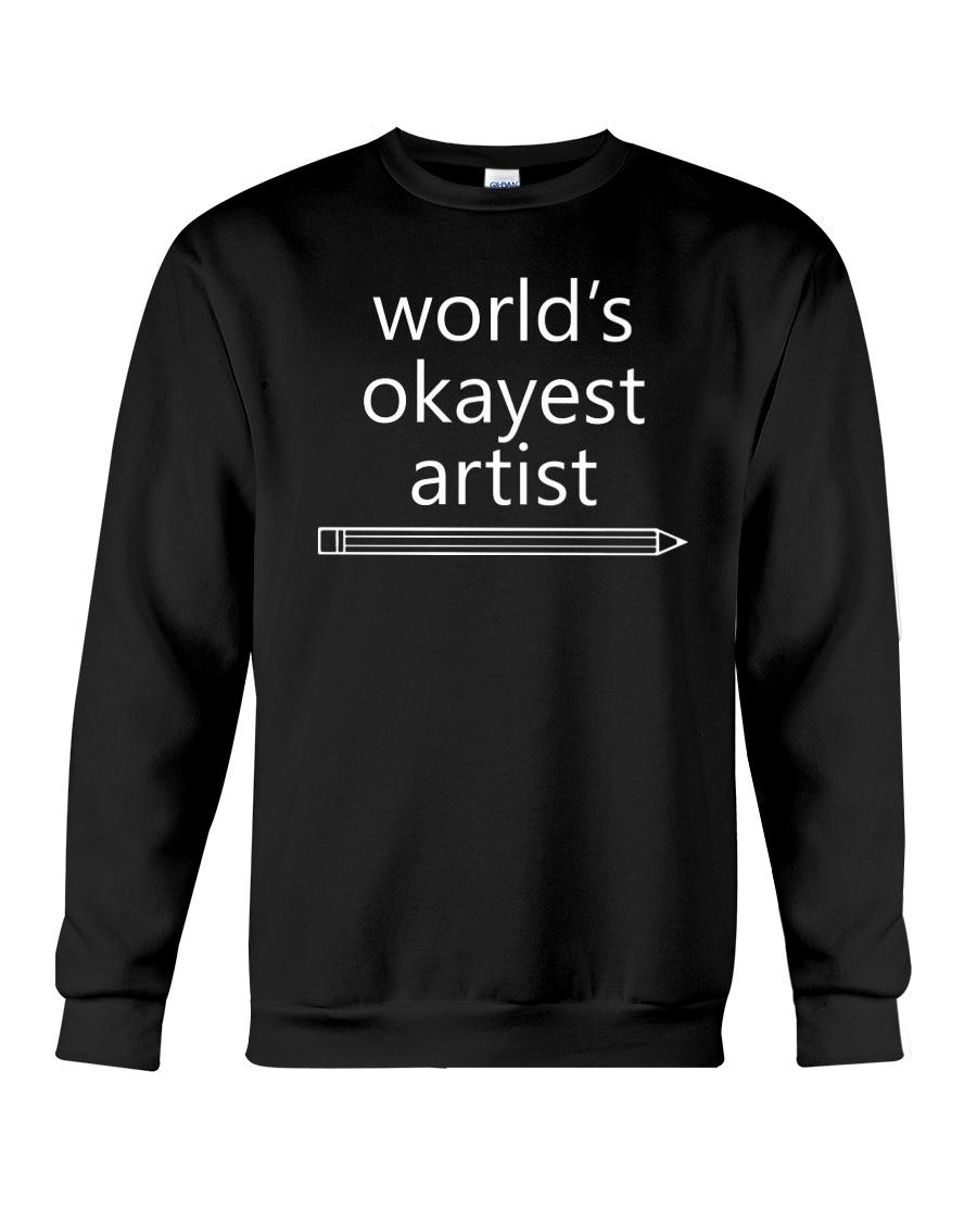 World's Okayest Artist - Complex White Crewneck Sweatshirt