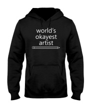World's Okayest Artist - Complex White Hooded Sweatshirt thumbnail