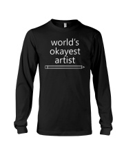 World's Okayest Artist - Complex White Long Sleeve Tee thumbnail
