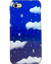 Blue sky misty clouds Phone Case thumbnail