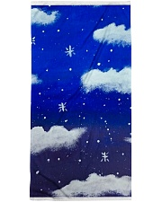 Blue sky misty clouds Premium Beach Towel thumbnail