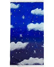 Blue sky misty clouds Bath Towel thumbnail