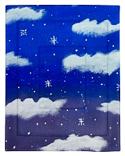 Blue sky misty clouds Comforter - Twin thumbnail
