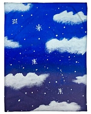 "Blue sky misty clouds Small Fleece Blanket - 30"" x 40"" thumbnail"