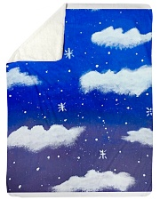 "Blue sky misty clouds Large Sherpa Fleece Blanket - 60"" x 80"" thumbnail"
