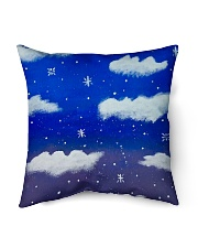 "Blue sky misty clouds Indoor Pillow - 18"" x 18"" thumbnail"