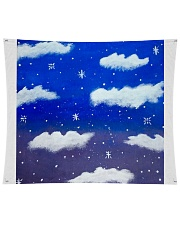 "Blue sky misty clouds Wall Tapestry - 104"" x 88"" thumbnail"