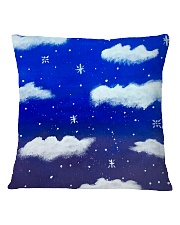 Blue sky misty clouds Square Pillowcase thumbnail