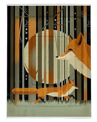 Shadow Moon Forest Solitary Foxes