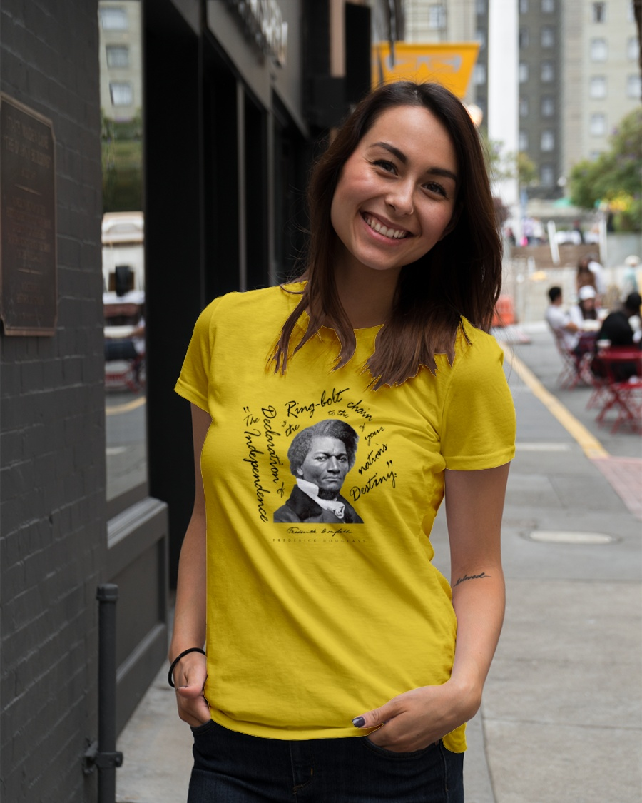 Frederick Douglass: Ringbolt Ladies T-Shirt