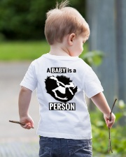 Equal Protection for Posterity: A baby is a person Youth T-Shirt lifestyle-youth-tshirt-back-1